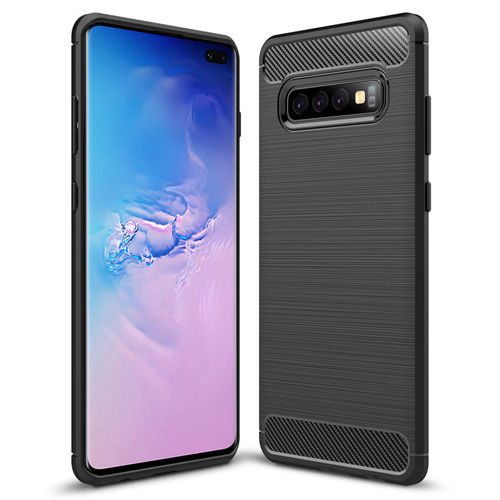 Flexi Slim Carbon Fibre Case for Samsung Galaxy S10+ (Brushed Black)